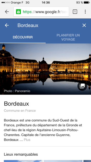 google destinations ville bordeaux