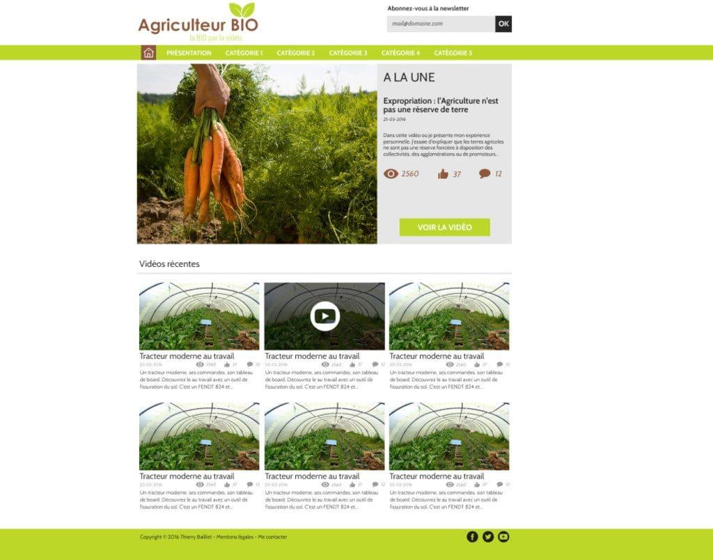 agriculteur bio site wordpress